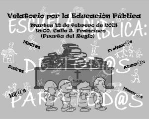 Velatorio por la Educación Pública Almansa #12F