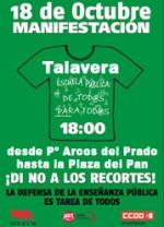 MANIFESTACIÓN EN TALAVERA DE LA REINA