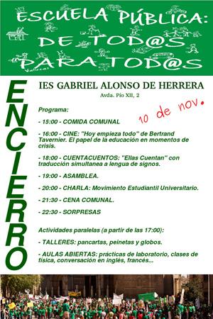 ENCIERRO EN EL IES GABRIEL ALONSO HERRERA, DE TALAVERA DE LA REINA