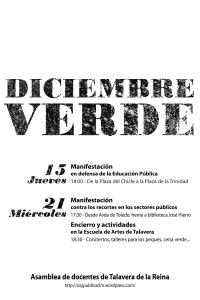 DICIEMBRE VERDE EN TALAVERA DE LA REINA (B/N)
