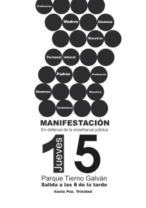 MANIFESTACIÓN EN DEFENSA DE LA ENSEÑANZA PÚBLICA