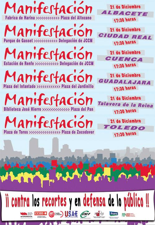 MANIFESTACIÓN EN CLM CONTRA LOS RECORTES Y EN DEFENSA DE LO PÚBLICO