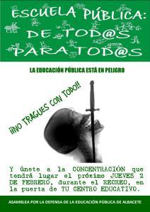 2 FEB - CONCENTRACIÓN EN EL RECREO DE LOS CENTROS DOCENTES