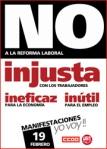 19F Manifestación contra la reforma laboral