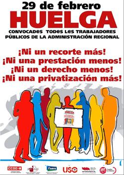 29 febrero - Huelga en la Administración Pública de CLM