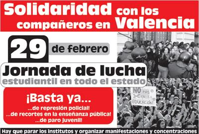 29F Jornada de lucha estudiantil en todo el Estado