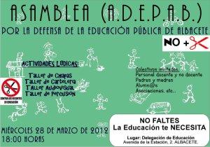ASAMBLEA DE ALBACETE POR LA DEFENSA DE LA EDUCACIÓN PÚBLICA