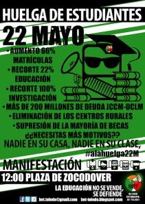 22M: Huelga convocada por el Bloque Estudiantil de Toledo
