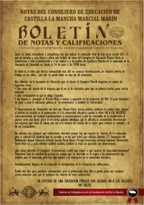 BOLETÍN DE CALIFICACIONES DEL CONSEJERO
