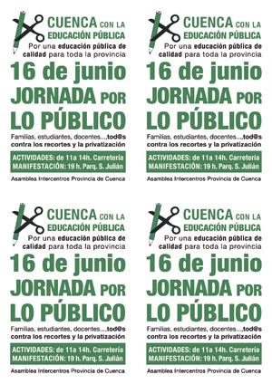 16 de junio - JORNADA POR LO PÚBLICO - CUENCA
