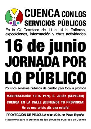 16 de junio JORNADA POR LO PÚBLICO - CUENCA