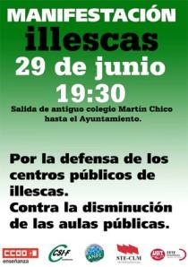 29 junio: Manifestación Illescas por la Defensa de los centros públicos