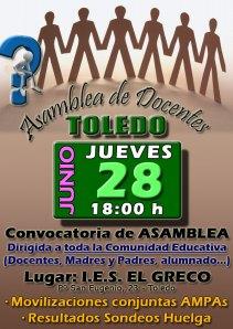 28 Junio: Asamblea de Docentes de Toledo