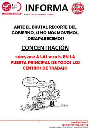 13 JULIO CONCENTRACIONES CENTROS DE TRABAJO