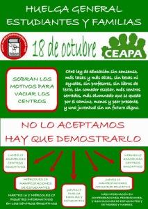 15-19 Octubre Semana de Lucha de Estudiantes, Madres y Padres
