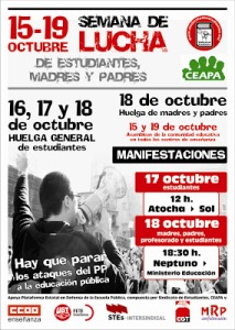 15-19 Octubre - Semana de Lucha de Estudiantes Madres y Padres