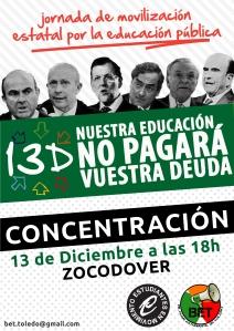 13D Nuestra Educación no pagará vuestra deuda